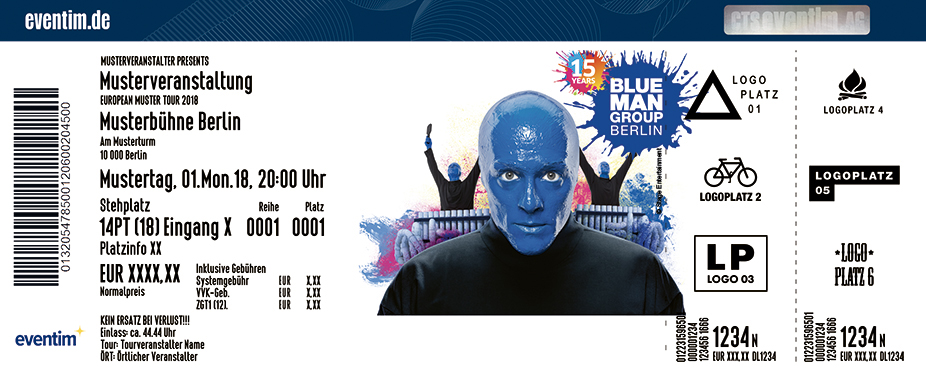 blue man group berlin tickets blue man. Black Bedroom Furniture Sets. Home Design Ideas