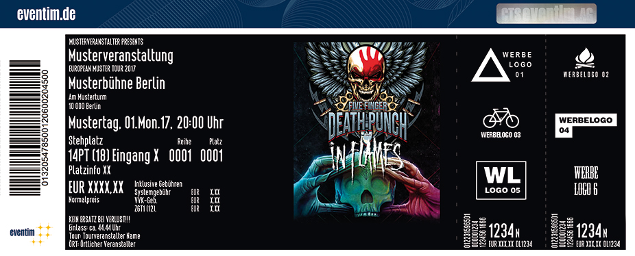 Five Finger Death Punch & In Flames - tickets
