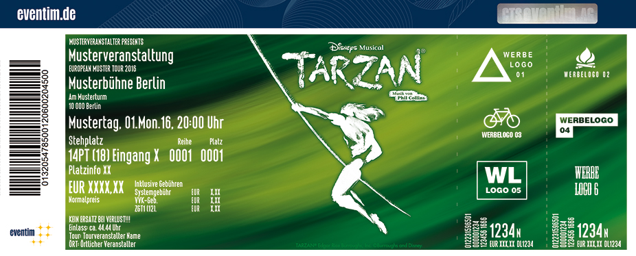Disneys Musical TARZAN in Oberhausen - tickets