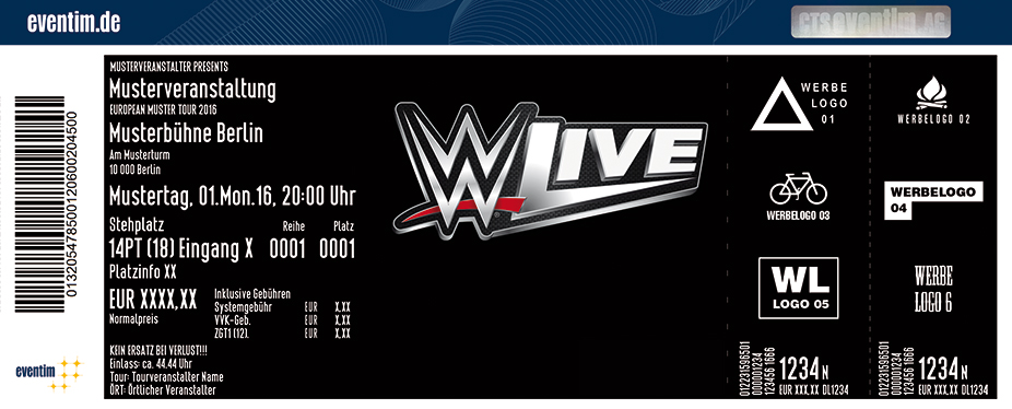WWE - Live 2017 - tickets